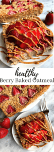 healthy berry baked oatmeal pin