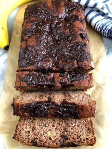 loaf of paleo banana bread