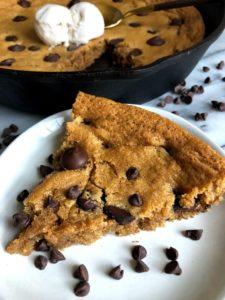 slice of peanut butter skillet cookie