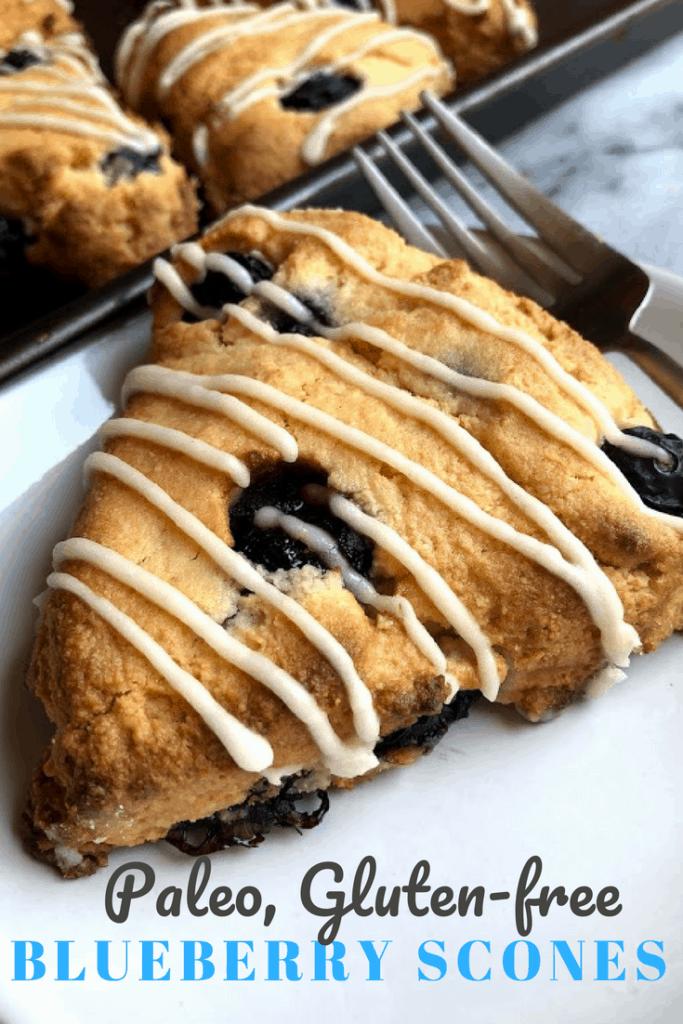 paleo blueberry scone