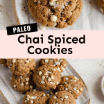 paleo chai spiced cookies