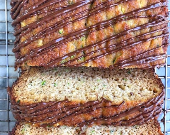 slice of paleo zucchini bread on rack