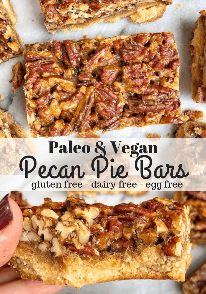 healthy pecan pie bars pinterest