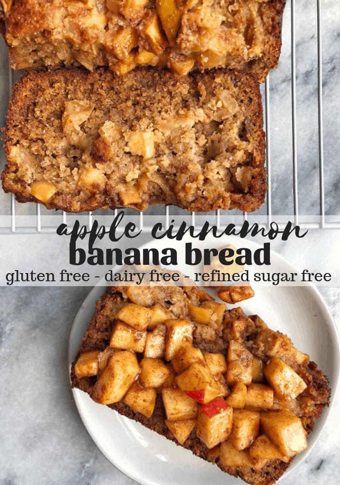 healthy apple cinnamon bread pinterest image