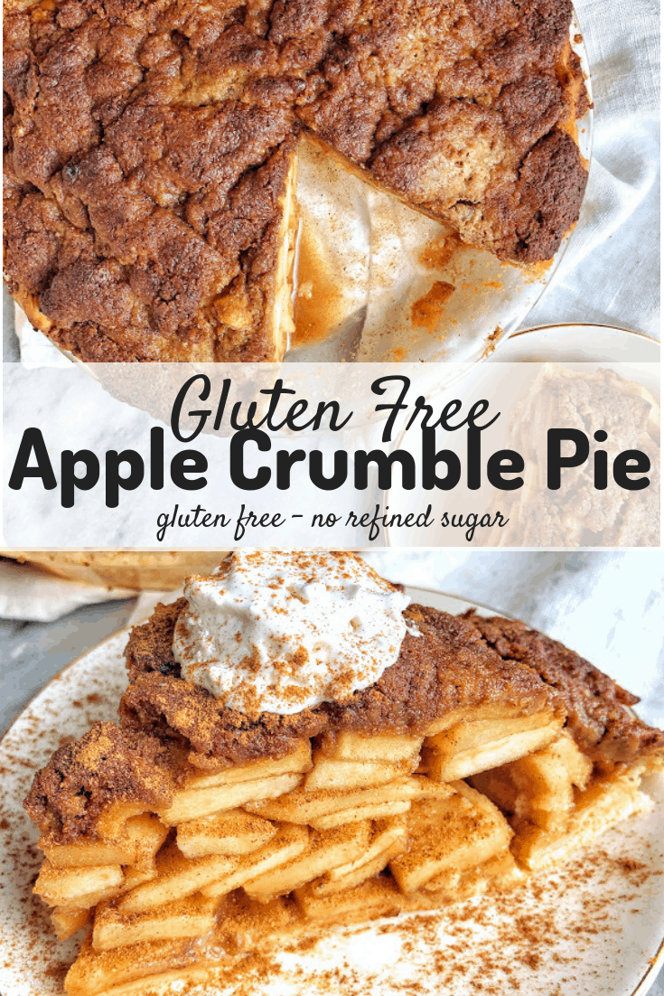 gluten free apple crumble pie pinterest image