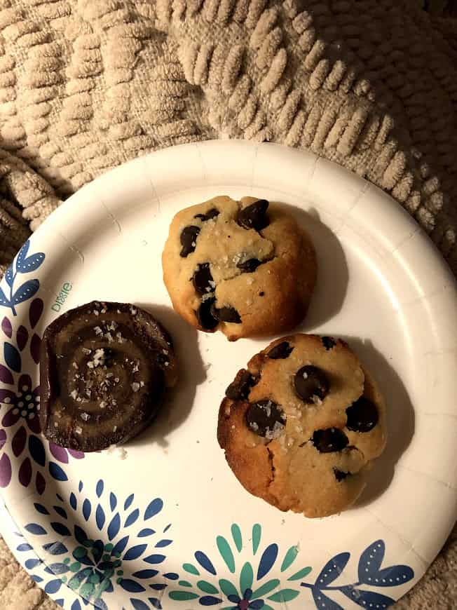 two cookies on a plate