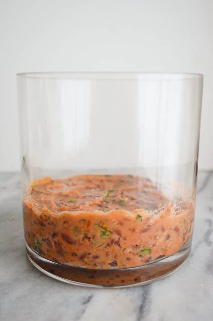 refried beans in a jar for seven layer dip