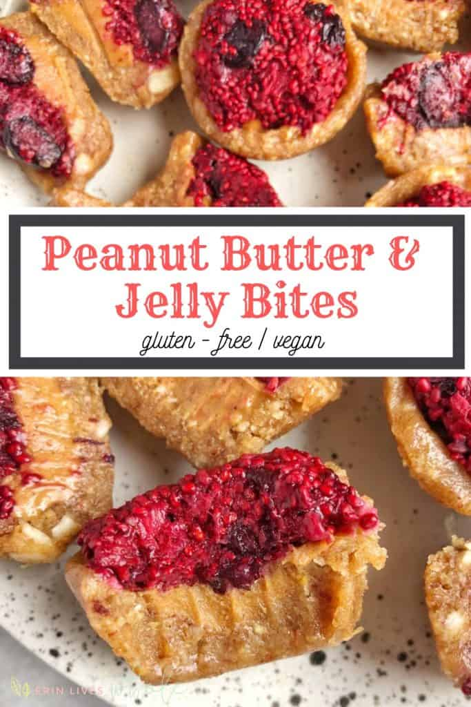 bite into peanut butter and jelly bite