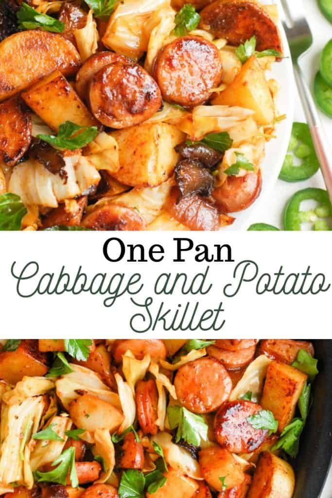 image for one pan cabbage and potato skillet