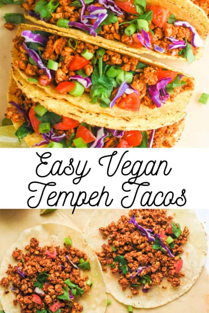 pinterest image for vegan tacos