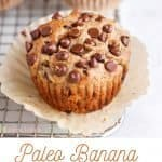 banana bread muffin on a rack