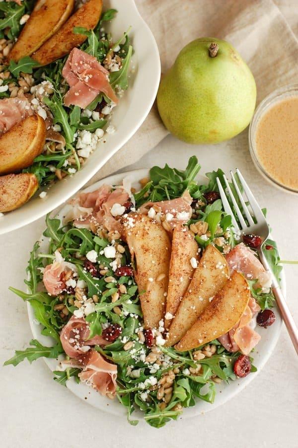 salad on a plate