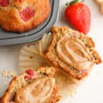 strawberry banana muffin with peanut butter