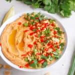 wide shot of thai hummus