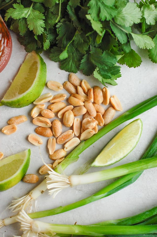 makings of thai peanut hummus