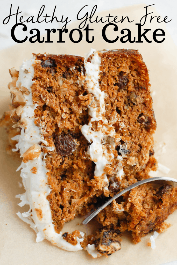 slice of gluten free carrot cake