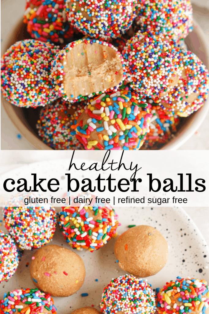 healthy cake batter balls