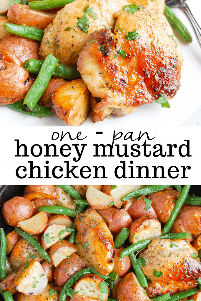 one pan honey mustard chicken dinner