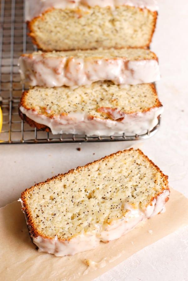 slice of lemon bread
