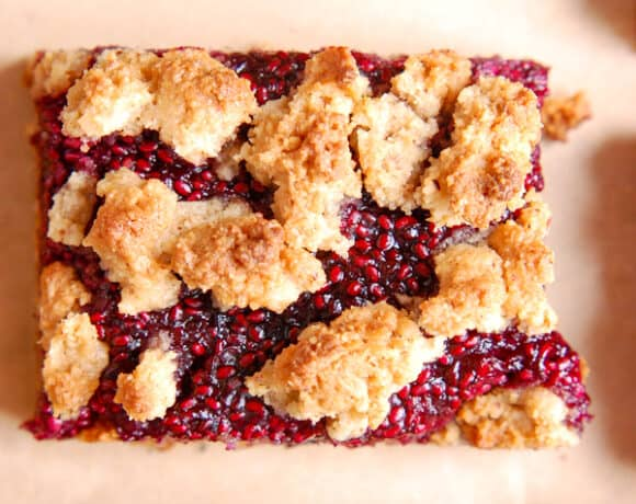 berry crumble bar