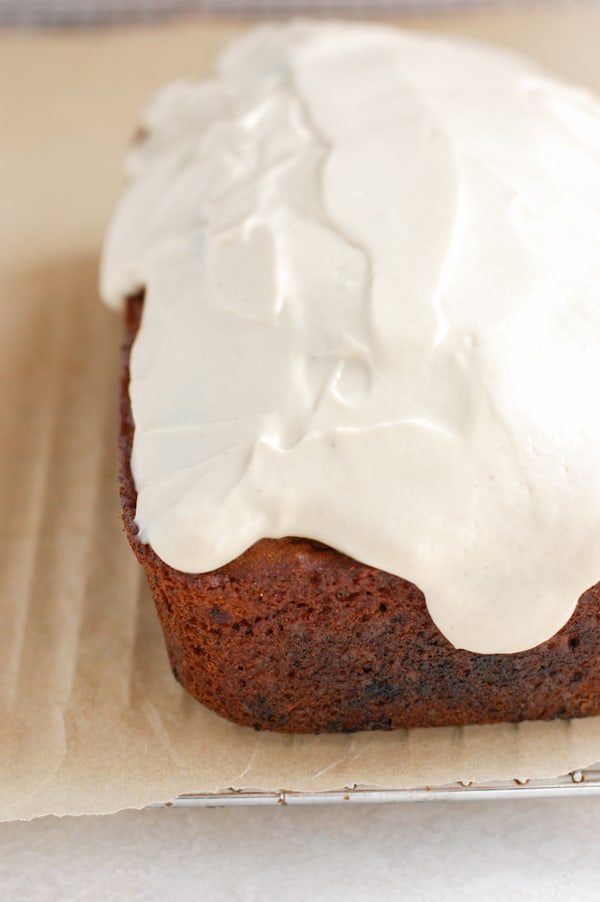 cashew cream cheese frosting on bread