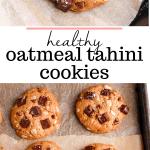 healthy oatmeal tahini cookies