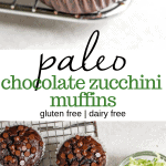 paleo chocolate zucchini muffin