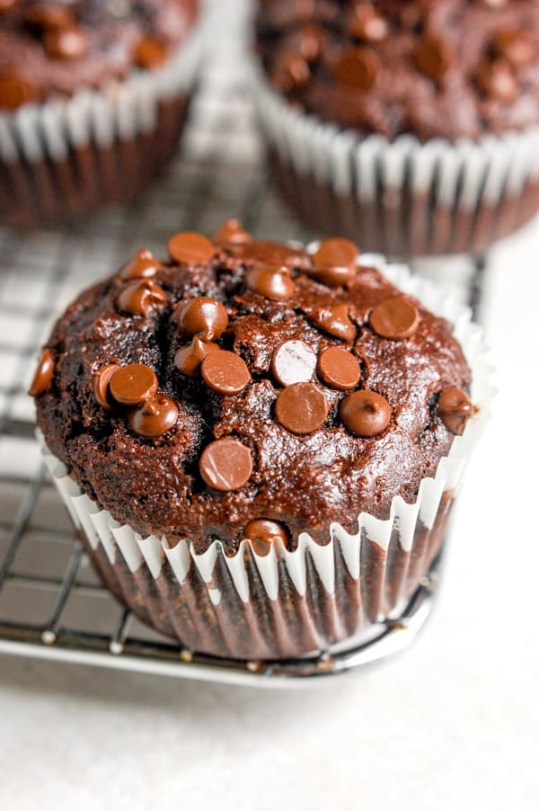 chocolate zucchini muffin