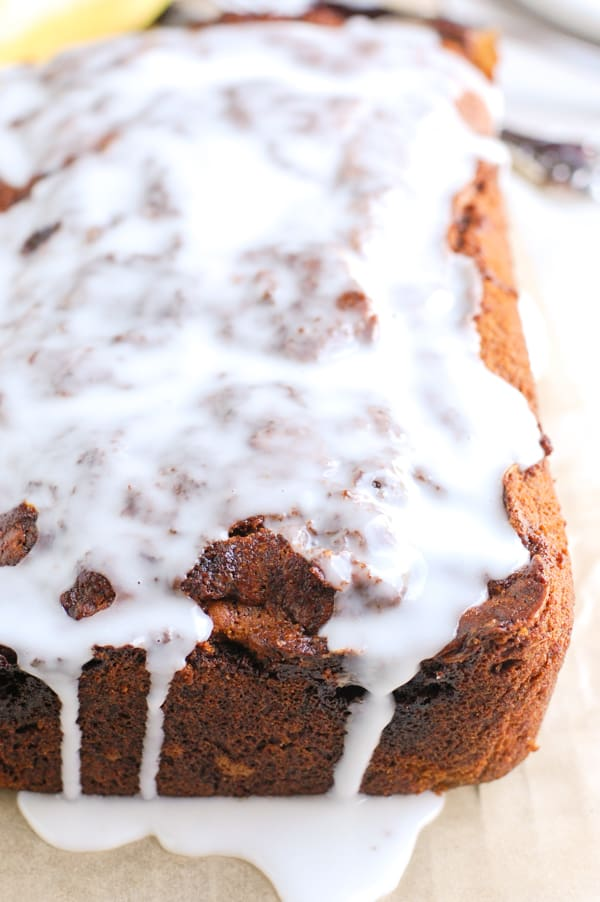 icing on banana bread