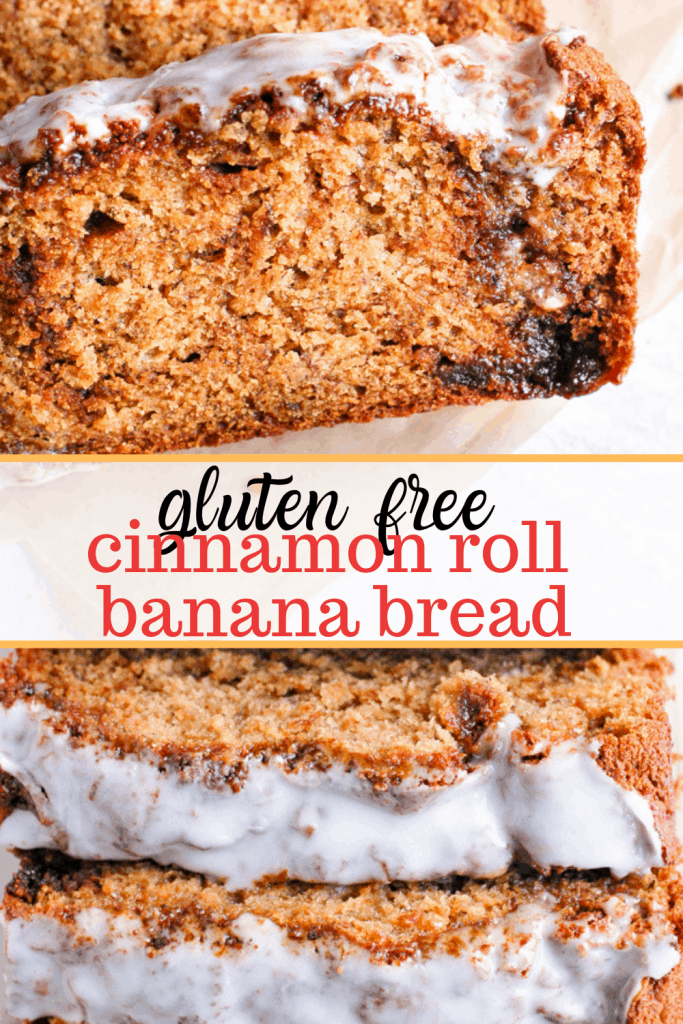 gluten free cinnamon roll banana bread