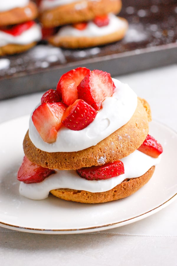 strawberry short cake on plate