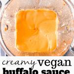 creamy vegan buffalo sauce