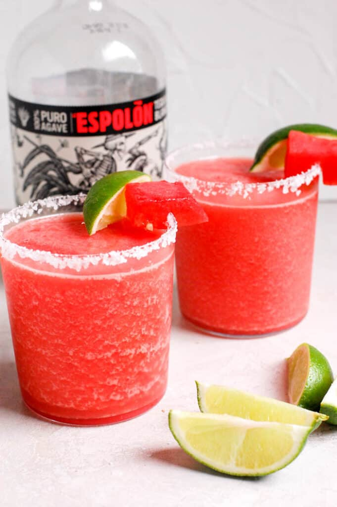 two easy watermelon margaritas