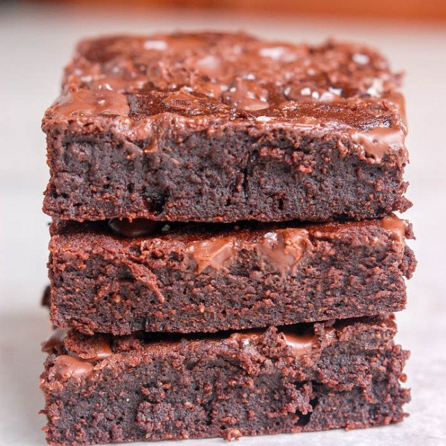 brownies stacked