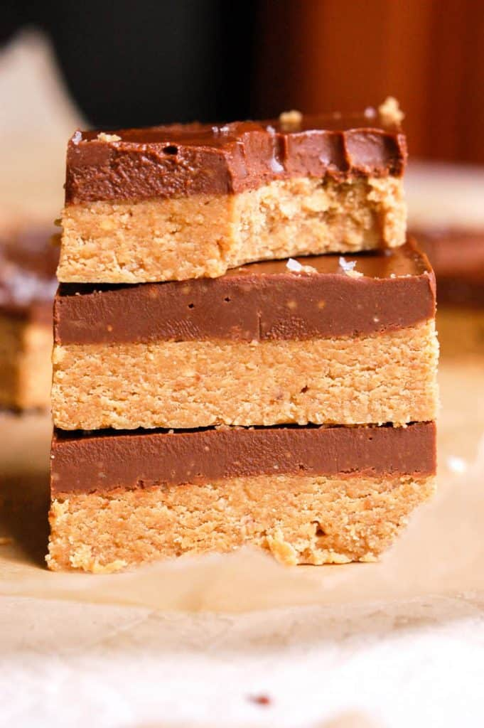 No Bake Chocolate Peanut Butter Bars Vegan Gluten Free Erin Lives Whole