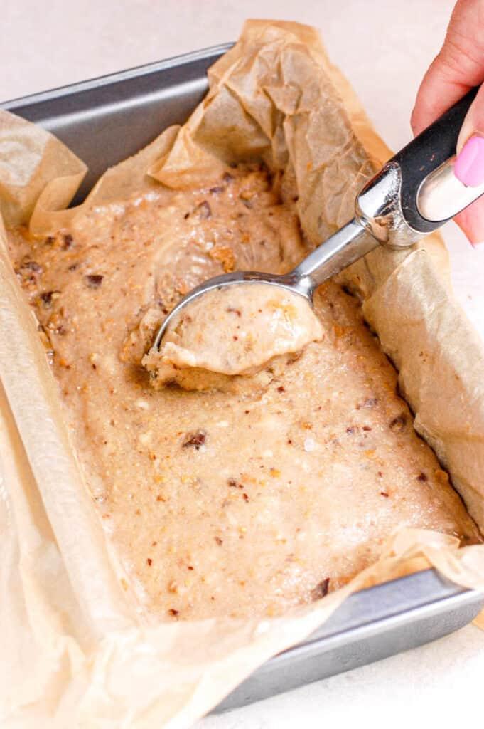 scooping nice cream with ice cream scoop