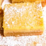 side shot of healthy lemon bar