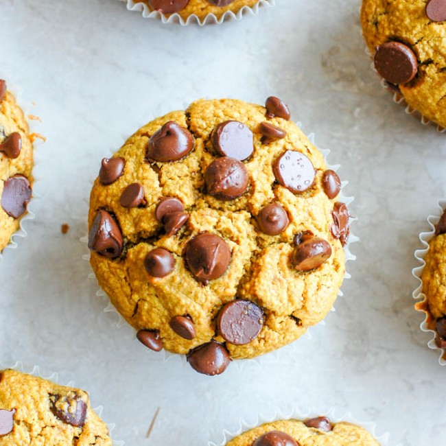 over head pumpkni muffins
