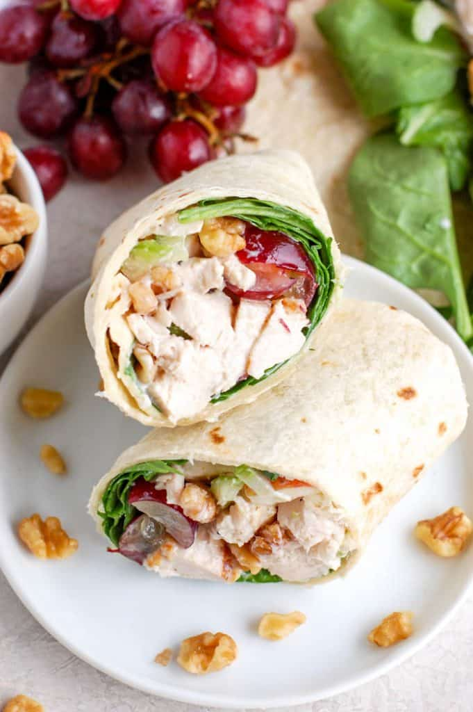 waldorf chicken salad wrap