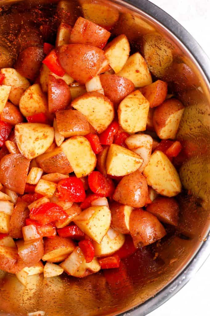 roasted breakfast potatoes in bowl