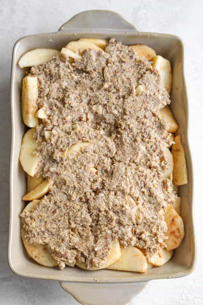 apple cobbler before bake