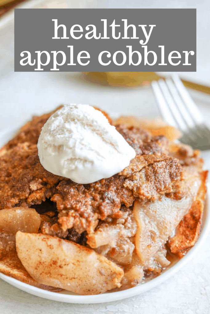healthy apple cobbler