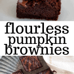 flourless pumpkin brownies