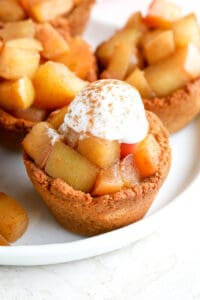 healthy mini apple pie on plate