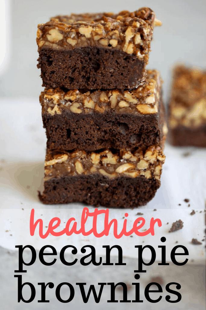 healthier pecan pie brownies