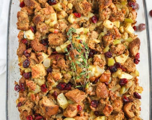 sausage stuffing in dish