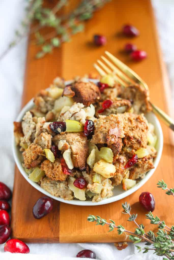 stuffing on plate