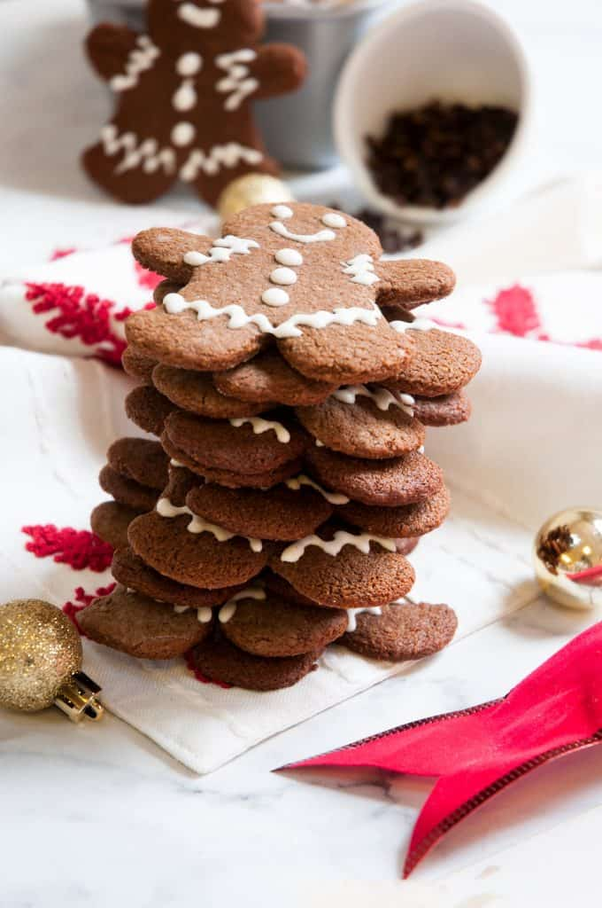 stack of paleo gingerbread cookies