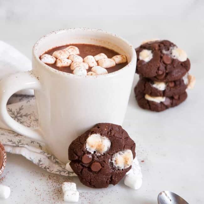 cookie leaning on mug