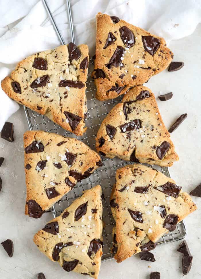 scones on a platter
